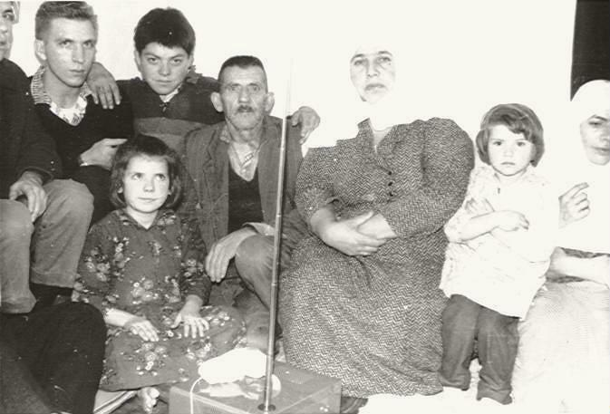 Chuck Hlavac with Turkish family in 1962
